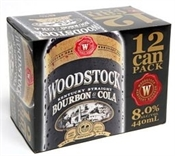 Woodstock & Cola Cans 12 x 355ml, 5% -bourbon-TopShelf Liquor Online Nz