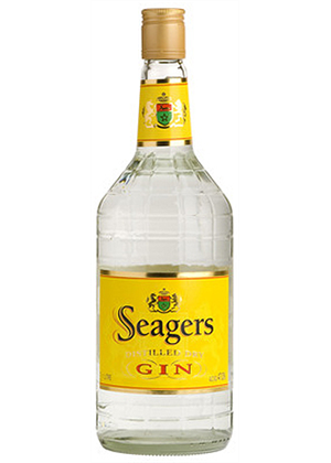 Seagers Dry Gin 1 litre, 37.2%