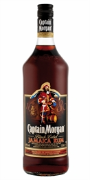 Captain Morgan Dark Rum 1 litre, 37%-rum-TopShelf Liquor Online Nz
