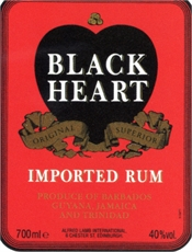 Black Heart Rum 375ml, 37.5%-rum-TopShelf Liquor Online Nz