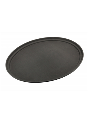 Black Poly Bar Tray - Non Slip 40cm