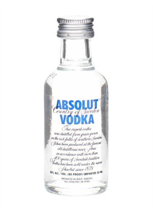Absolut Vodka Miniature 50ml, 40% - Absolut 50ml : Miniatures-Vodka : TopShelf Liquor Online Alcohol Online Gift Delivery Nz