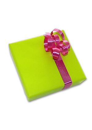 Gift Wrapping & Card - Lime Green