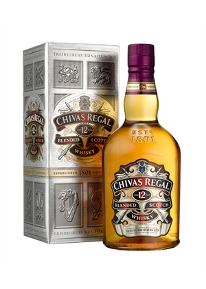 Chivas Regal 12yr Old 1 litre, 40%