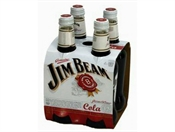 Jim Beam & Cola Bottles 4 x 330ml, 5%-bourbon-TopShelf Liquor Online Nz