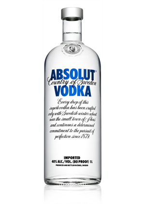 Absolut Pure Vodka 1 litre, 40%