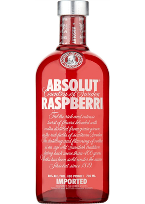 Absolut Raspberri Vodka 700ml, 40%