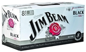 Jim Beam Black & Cola Cans 8 x 330ml, 7%-bourbon-TopShelf Liquor Online Nz