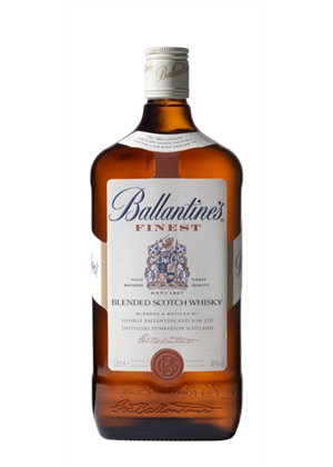 Ballantines Finest Scotch Whisky 1 Litre 40 Ballantines 1000ml