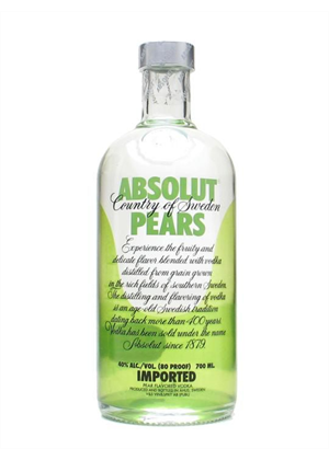 Absolut Pears Vodka 700ml, 40%