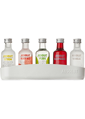Absolut Vodka Miniature Set 5 x 50ml, 40% - Absolut Gift Pack : Miniatures- Vodka : TopShelf Liquor Online Alcohol Online Gift Delivery Nz