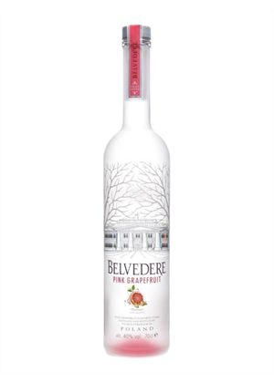Belvedere Pink Grape Fruit Vodka 700ml, 40%