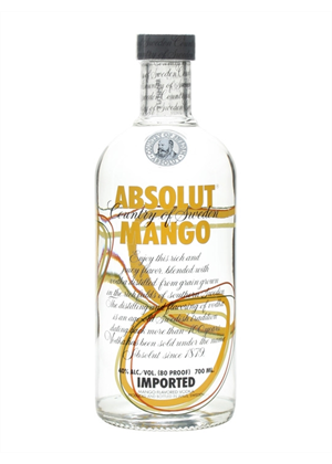 Absolut Mango Vodka 700ml, 40%