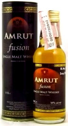 Amrut Fusion Single Malt Mini 50ml, 50%-whisky-TopShelf Liquor Online Nz