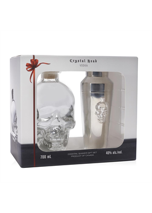 Crystal Head Vodka Gift Set with Shaker 700ml, 40%