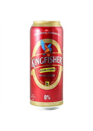 Kingfisher Beer Cans 24 Pack 500ml, 8%