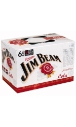 Jim Beam & Cola 6 x 330ml, 5%-bourbon-TopShelf Liquor Online Nz