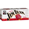 Jim Beam & Cola Cans 10 x 330ml, 5%-bourbon-TopShelf Liquor Online Nz