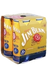 Jim Beam Bonded & Cola 4 x 250ml Cans, 8%-bourbon-TopShelf Liquor Online Nz
