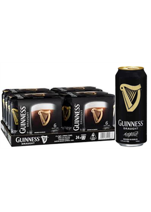 Guinness Draught Beer Cans 24 x 440ml, 4.2%