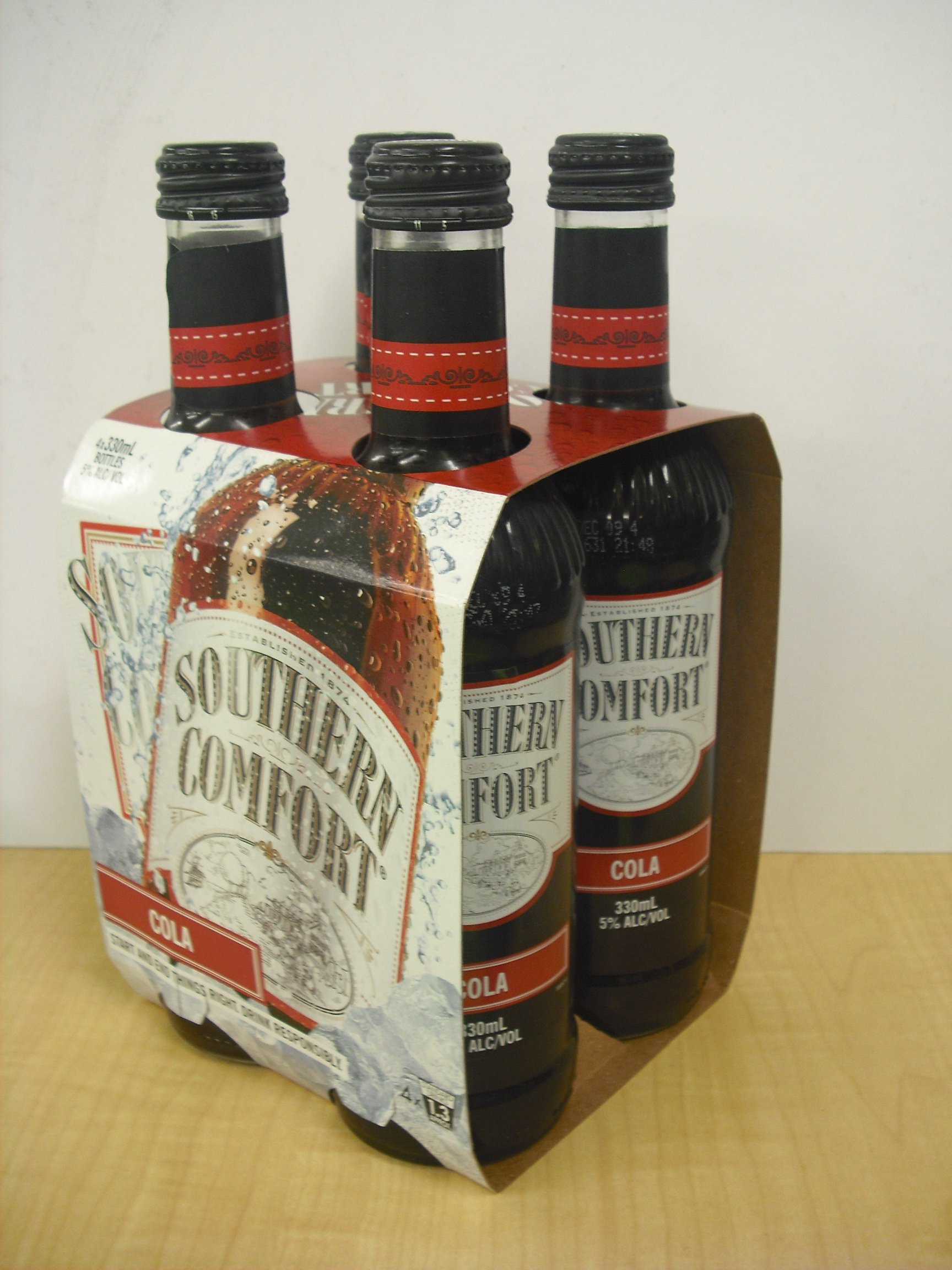 Southern Comfort Amp Cola Bottles 4 X 330ml 5 Southern