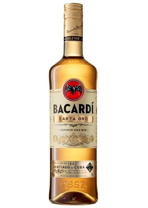 Bacardi Carta Oro 1000ml, 40%