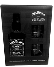Jack Daniel's Gift Pack With Two Glass 700ml, 40%-whisky-TopShelf Liquor Online Nz
