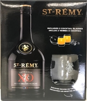 St Remy Xo Glass Gift Pack 750ml, 40%-exclusive collections-TopShelf Liquor Online Nz