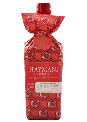Hayman's Gin Sloe Christmas Gift Wrapped 700ml, 26%