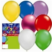 25 x Metallic Balloons Various Colours