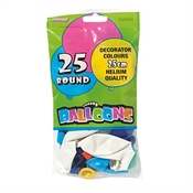 Party Balloons 25cm x 25 Pack-party supplies-TopShelf Liquor Online Nz