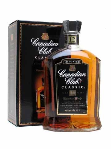 Canadian Club 12yr Old Whisky 700ml 40 Canadian Club